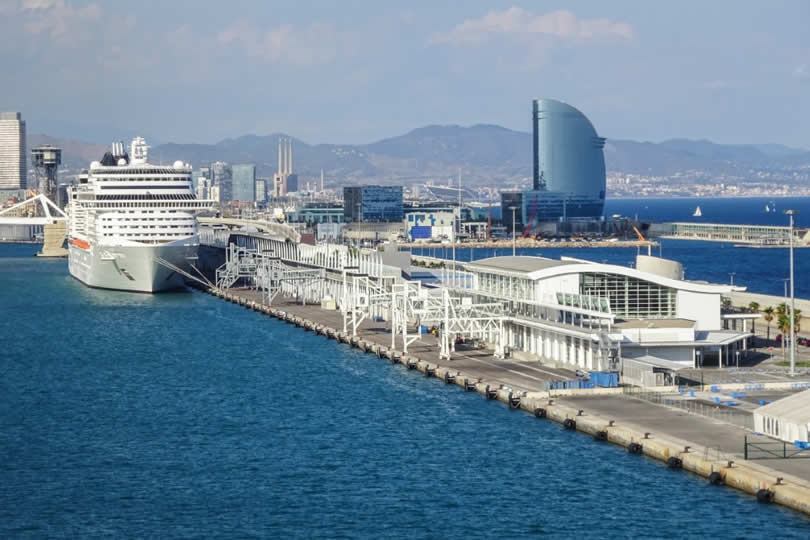Port of Barcelona cruise ship and terminals
