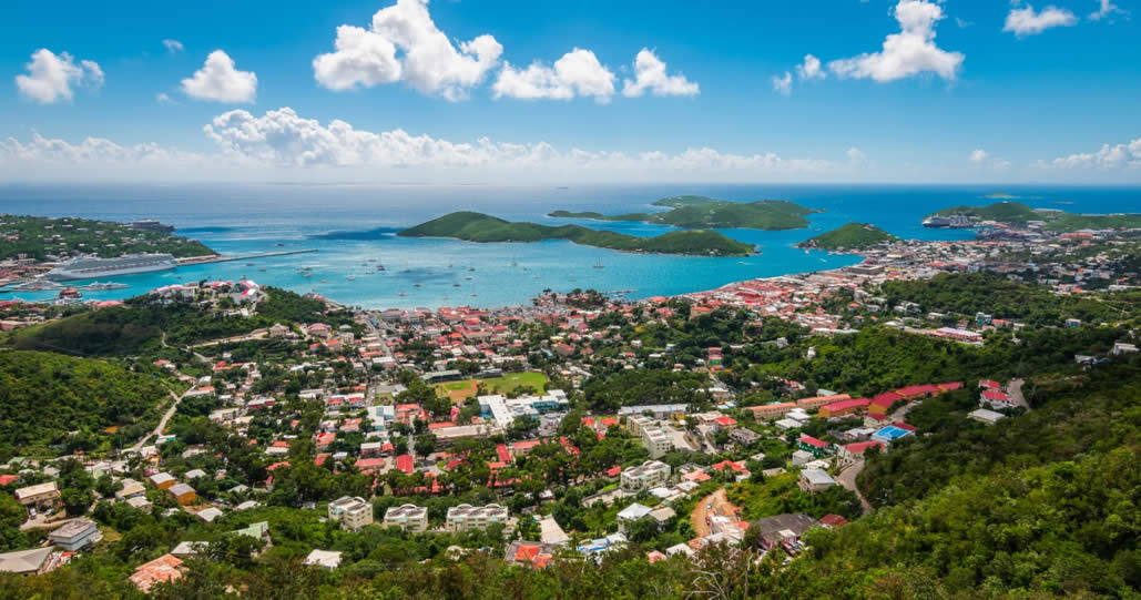 Charlotte Amalie cruise port and town