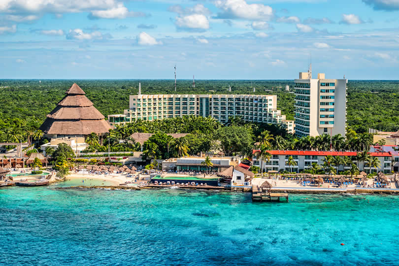 Cruise port hotels and port in Cozumel