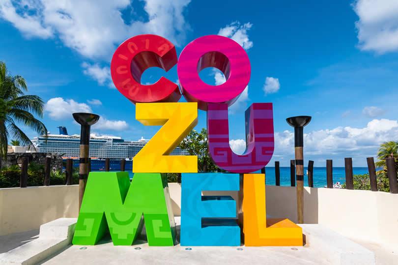 Cozum sign in port area