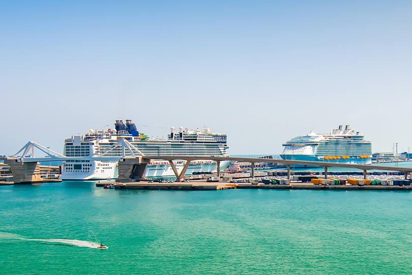 Cruise ships in Barcelona Port