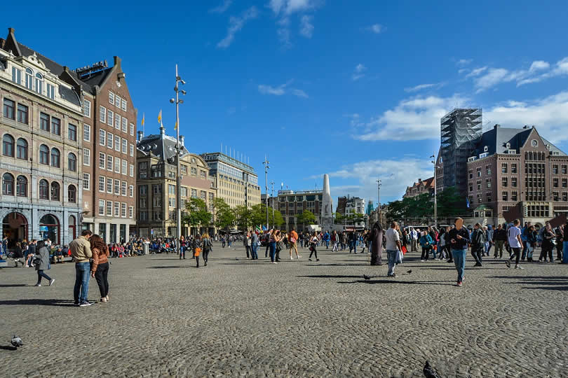 Dam Square in Amsterdam The Netherlands