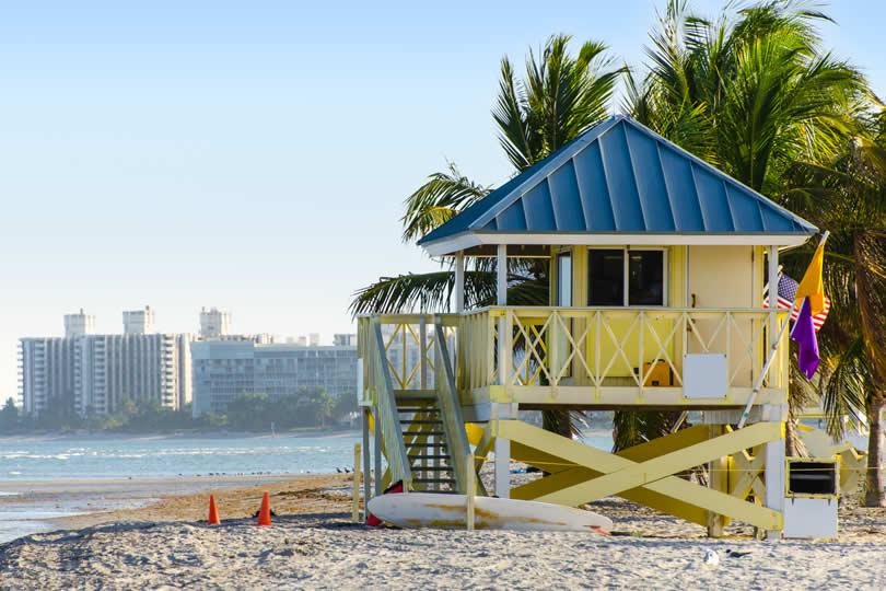 Key Biscayne beach hut