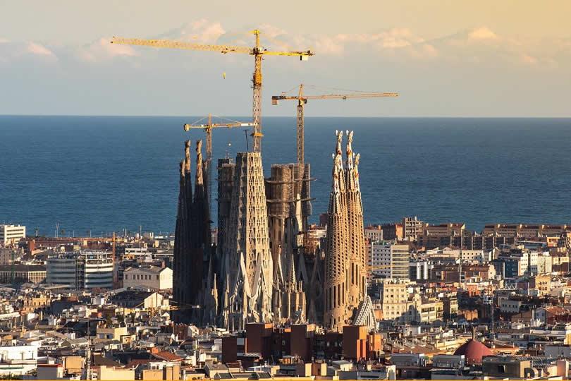 La Sagrada Familia Cathedral in Spain