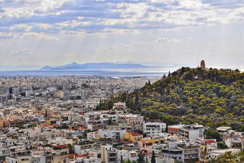 Lykavittos Hill in Athens Greece