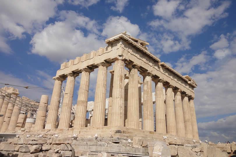 Parthenon on Acropolis Hill in Athens Greece
