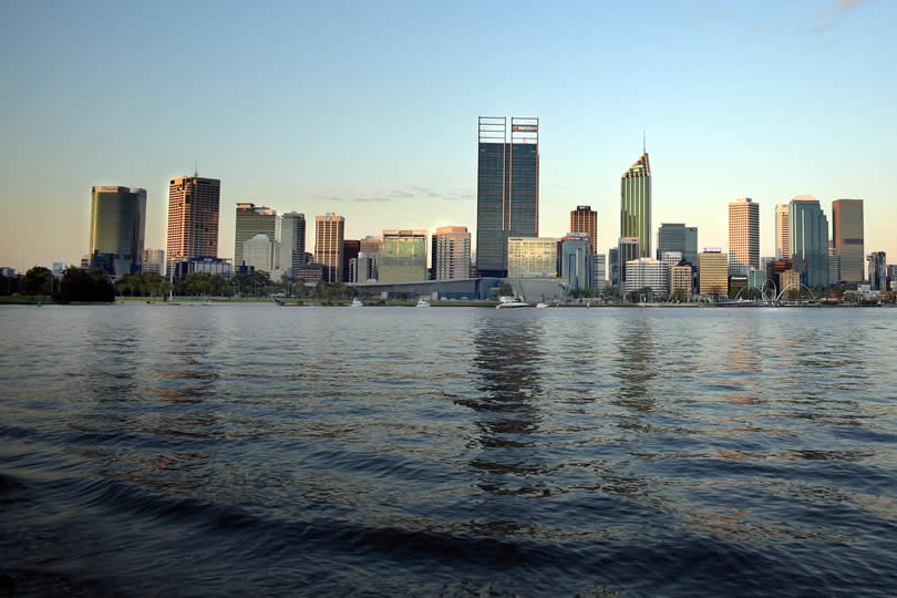 Downtown Perth and Harbour