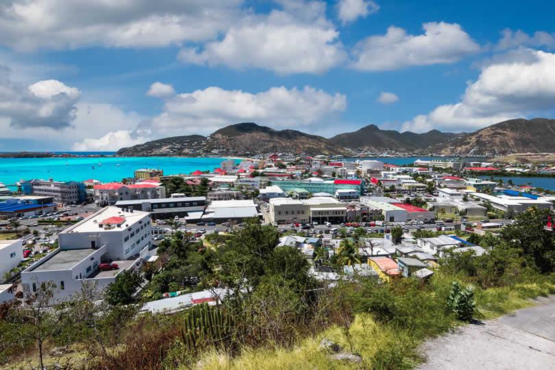 Philipsburg capital city of Sint-Maarten