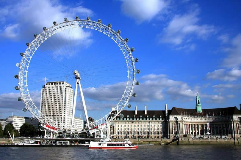 London Eye and Marriott Hotel